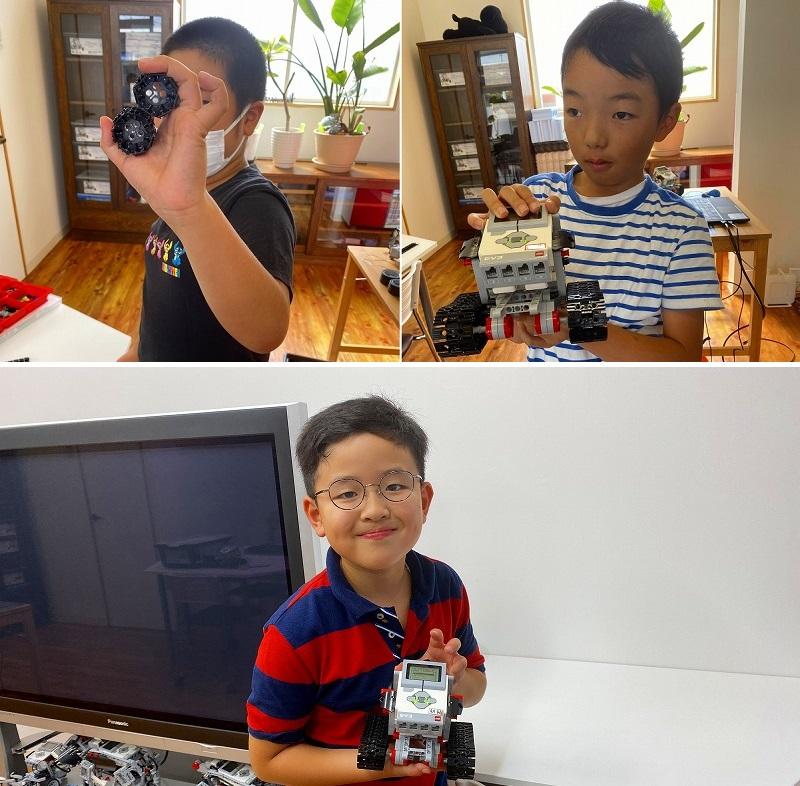 ロボットにキャタピラーをつけて、きれいにターンにできるように改造する。トップ画像