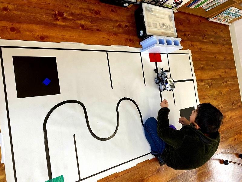 ロボット競技会準備3回目。ロボットの動作テスト